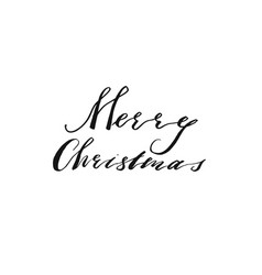 hand drawn merry christmas and happy new vector image