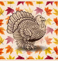 Happy thanksgiving hand drawn lettering vector