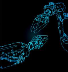Industrial robots vector