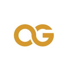 Initial og logo vector