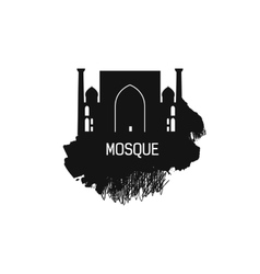 Islam Cathedral silhouette with splash vector