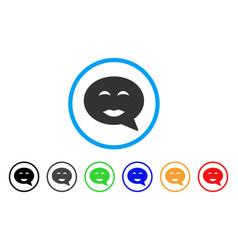 Lady pleasure smiley message icon vector