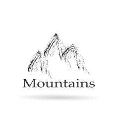 logo mountains abstract vector image