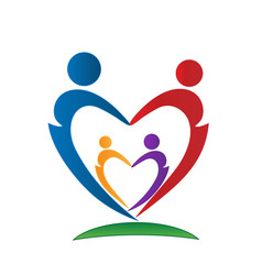 loving family people figures icon vector image