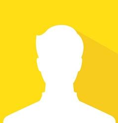 Male avatar profile picture gold member silhouette vector