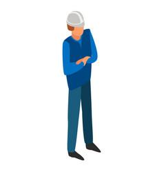 man boss construction icon isometric style vector image