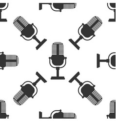 microphone seamless pattern on white background vector image
