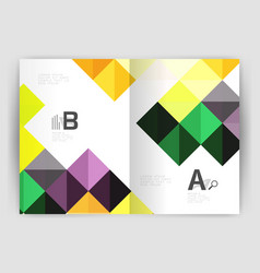 minimalistic square brochure or leaflet business vector image