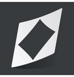 Monochrome diamonds sticker vector