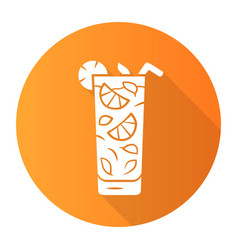 Moxito orange flat design long shadow glyph icon vector