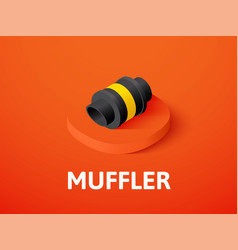 muffler isometric icon isolated on color vector image