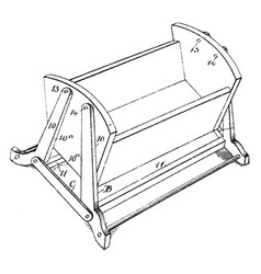 Multiple purpose child cradle is a device used to vector