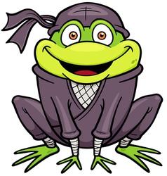 Ninja frog vector