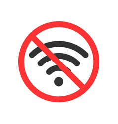 No wifi icon you can not use wi fi here vector