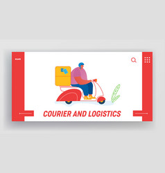 post express delivery service website landing page vector image