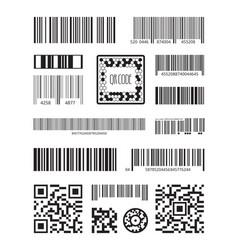 qr code bar code scanning product symbols laser vector image