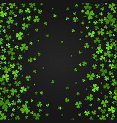 Saint patrick s day border with green four and vector