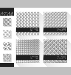 Set abstract seamless pattern 1 vector