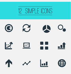 Set of simple diagram icons vector
