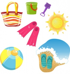 set of vacation icons vector image