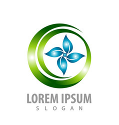shiny circle leaf concept design symbol graphic vector image