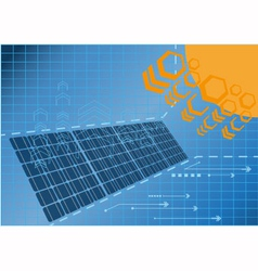 Solar cell power plant vector