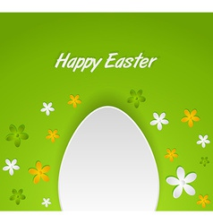 spring Easter egg card vector image