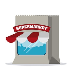 Supermarket store design vector image