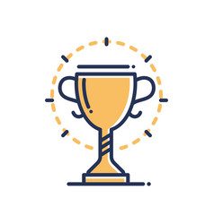 Trophy - modern single line icon vector