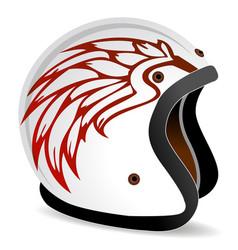 vintage race helmet vector image
