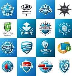 biggest collection of logo design protection vector image vector image