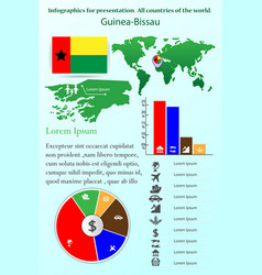 guinea-bissau infographics for presentation all vector image