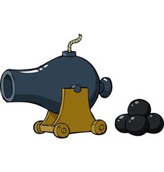 old gun with nuclei vector image