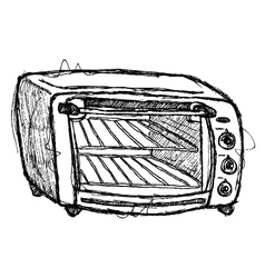 scribble series - oven vector image vector image