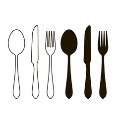 table setting tableware cutlery set of fork vector image vector image