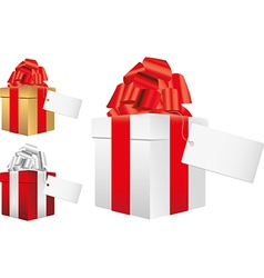 gifts note vector image