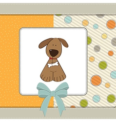 greeting card with small dog vector image