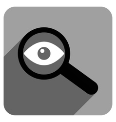 Investigate vision flat square icon with long vector