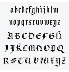 Medieval alphabet vector image vector image