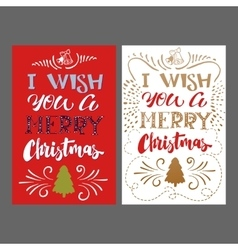 Merry Christmas hand Lettering card vector image vector image