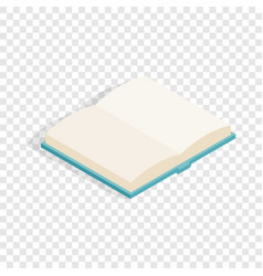 open book isometric icon vector image