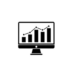 seo monitoring solid icon vector image