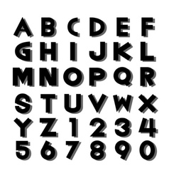 Alphabet fonts and numbers vector image