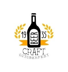 Craft Beer Oktoberfest Logo Design Template vector image vector image