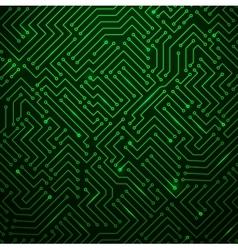 Futuristic Shining Green Technology Backgorund vector image