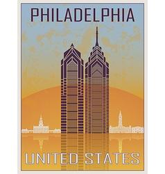 Philadelphia Vintage Poster vector image vector image