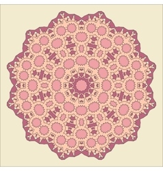 Round decorative pattern Lace circle design vector image vector image