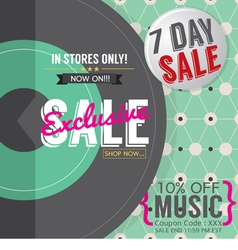 Vinyl Exclusive Sale vector image vector image