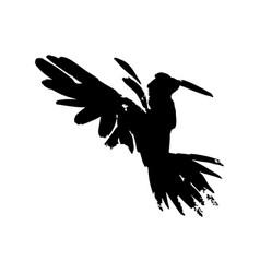 watercolor crow hand drawn artistic blackbird vector image