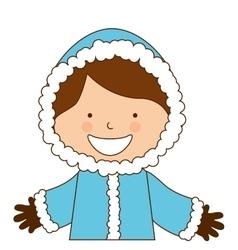 alaska boy character icon vector image